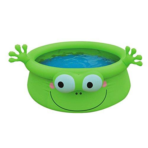 Jilong Frog Pool Ø 175 x 62 cm Quick-Up kinderzwembad in kikker design kinderbadje kinderen zwembad zwembad voor tuin en terras