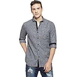 Campus Sutra Men Checks Casual Shirt
