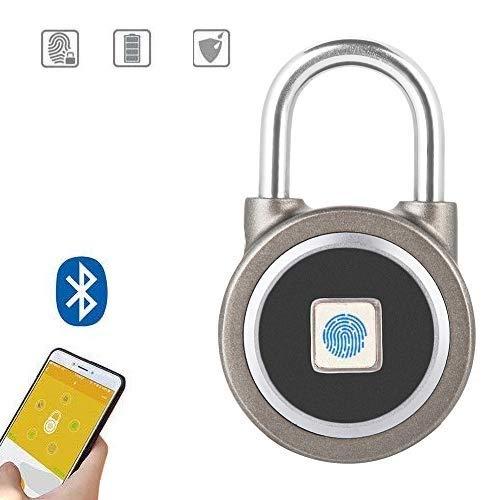 Tosuny vingerafdruk hangslot, Smart IP65 waterdicht vingerafdrukslot met bluetooth-app-bediening, geschikt voor huisdeur, rugzak, koffer, magazijn, fiets, kast, kantoor