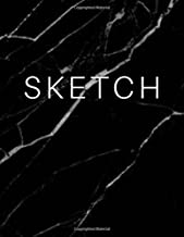 Sketch - Art Sketch Book / Black Marble Cover: (8 x 11) Blank Paper Sketchbook, 100 Pages, Durable Matte Cover