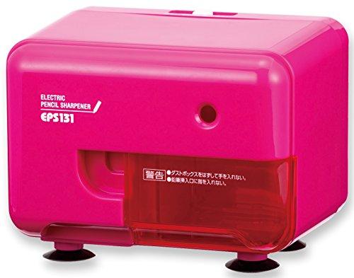 アスカ 鉛筆削り Asmix 電動シャープナー 芯先調整機能付き ピンク EPS131P