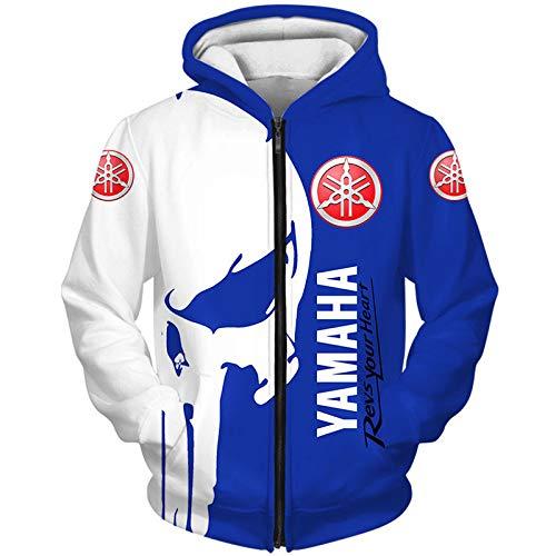 Kaprise sledge Hoodies,Chaquetas,Camiseta Yam-Aha Punisher 3D Completo Impresión Delgado Hombre Y Mujer Casual Poliéster Sweatshirt Deportes / B1 / XXL