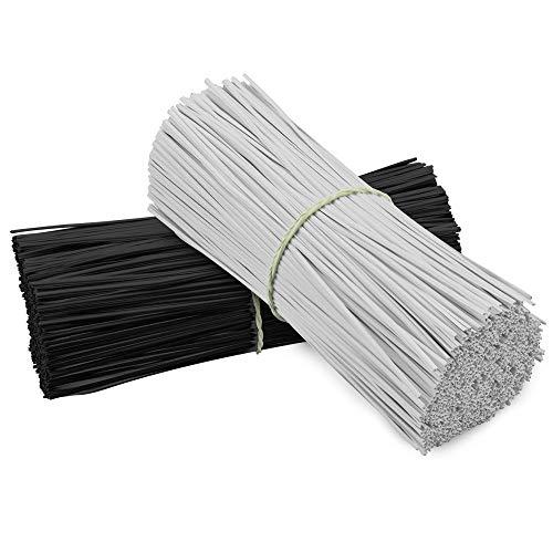 TANCUDER 400 Stück Kabelbinder kunststoff Kabelbinder Wiederverwendbare Kabelbinder 15cm Twist Kabelbinder Kunststoff Bindedraht für Ladekabel, Computerkabel, Kopfhörerkabel (2 Farben)