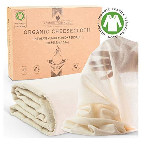 Mantel de algodón orgánico sin blanquear