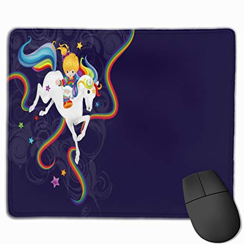 Rain-Bow Brite and Starlite Memories Mouse Mat Non-Slip Rubber Base Mousepad for Laptop, Computer
