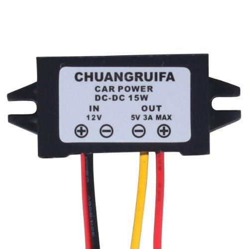 RioRand (TM) Auto-LED-Display, Netzteil 12 V auf 5 V 3 A Gleichstrom/Gleichstrom-Umwandler