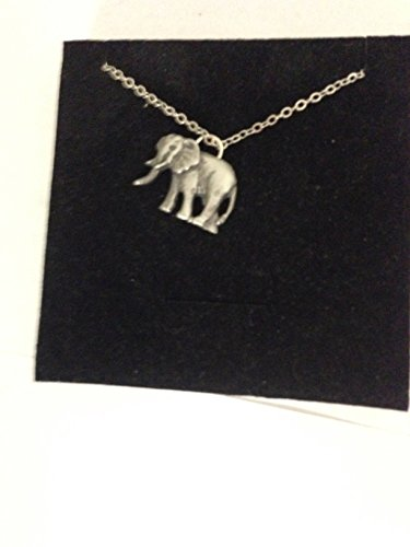 Elefante R96 Inglés peltre en un collar chapado en platino, 45,7 cm