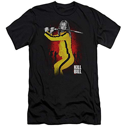 Kill Bill Surrounded Slim Fit Unisex Adult T Shirt for Men and Women, 2X-Large Black