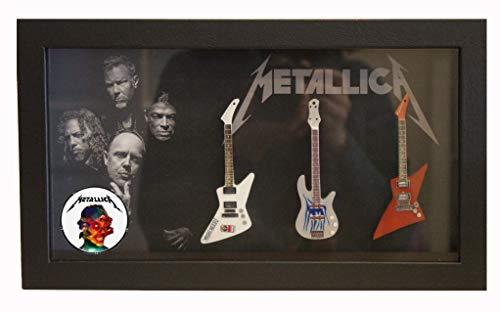 RGM8983 Metallica - Guitarra en miniatura (marco Shadowbox)