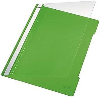 Classeur standard Esselte Leitz, format A4, longue zone d'inscription, PVC, vert clair