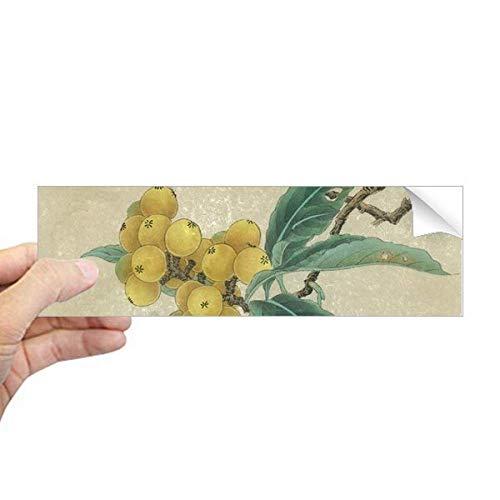 DIYthinker Loquat Geborduurde Veer Figuur Chinese Schilderij Rechthoek Bumper Sticker Notebook Window Decal