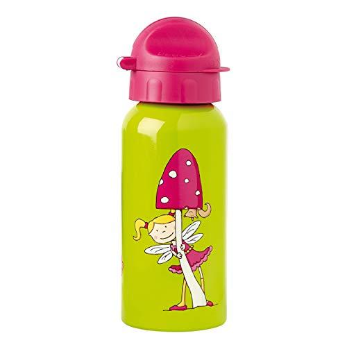 sigikid, Mädchen, Trinkflasche mit Drehverschluss 0,4 l, Florentine, Grasgrün/Pink, 24445