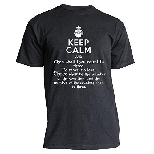 "Nukular T-Shirt ""Keep Calm - Holy Grenade"", Farbe schwarz, Größe XL"