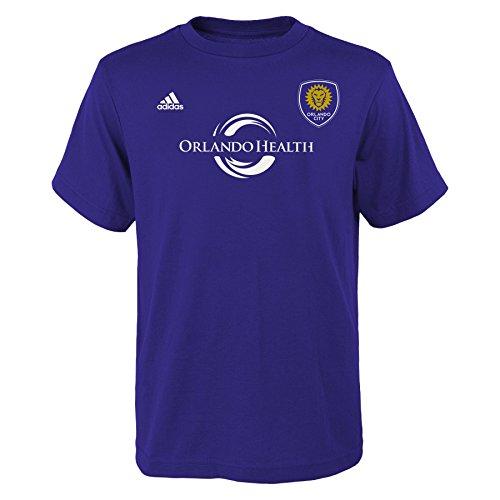 MLS Orlando City Kaka # 10 Youth Boys Name and Number Tee, Large, Purple