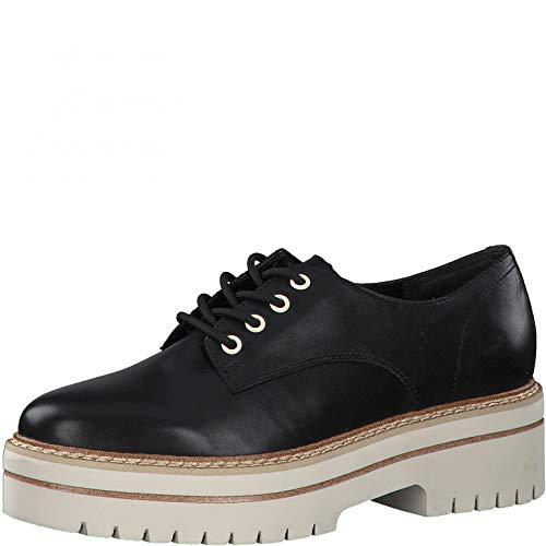 Tamaris Damen Businessschuhe, Frauen Schnürhalbschuhe,Touch It-Fußbett,schnürschuhe,schnürer,Halbschuhe,klassisch,Black Leather,38 EU / 5 UK