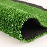Quesuc 15mm Tapis de Gazon Artificiel Balcons et Terrasses Extérieurs Pelouse Synthetique | Perméable à l'eau Avec Protection UV | Convient pour Intérieur et Extérieur | d'épaisseur(100x100 CM)