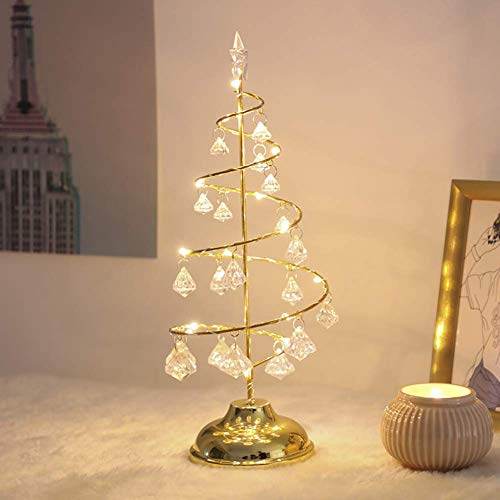 weiwei Mini Decoration Tree Artificial Christmas Tree with LED with Base Glitter Table Christmas Tree for Home Decorations