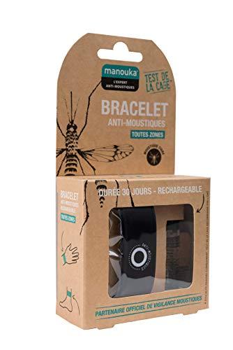 MANOUKA Bracelet Anti-moustiques Rechargeable - Lot de...
