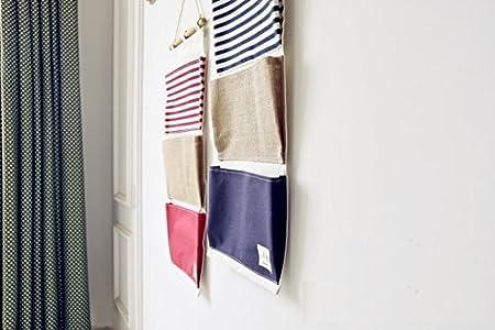 Starsglowing Sac de rangement mural H/ängnde porte de poche sac suspendu Organizer Blanc
