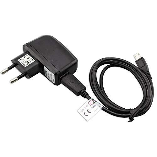 caseroxx Handy Ladekabel Ladegerät/Ladeadapter + Kabel für Bestore J6, hochwertiges Set bestehend aus 220V-Adapter und Datenkabel (Flexibles, stabiles Kabel in schwarz)