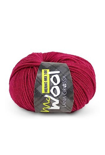 Lana Grossa Mc Wool Merino Mix 100-108 dunkelrot 50g Wolle