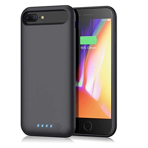 Battery Case for iPhone 6s Plus/ 6 Plus/ 7 Plus/ 8 Plus 8500mAh,Portable Charger Case Rechargeable Charging Case, Battery Pack Cover Power Bank for 6s Plus/ 7 Plus/ 8 Plus (5.5 inch)