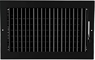 "14""w X 8""h Adjustable AIR Supply Diffuser - HVAC Vent Cover Sidewall or Ceiling - Grille Register - High Airflow - [Outer Dimensions: 15.75""w X 9.75""h]"