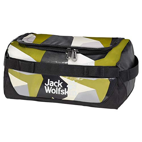 Jack Wolfskin Unisex – Erwachsene Expedition Wash Sporttasche, Green geo Block, One Size