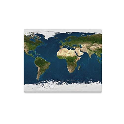 JIUCHUAN Arte de la Pared Pintura Extra Grande Tamaño Mapa del Mundo físico Imprime en Lienzo La Imagen Paisaje Paisaje Óleo para el hogar Decoración Moderna Impresión Decoración para Sala de Estar