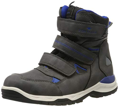 Tom Tailor 7972004, Chaussures de Randonnée Hautes garçon, Gris (Coal 00013), 35 EU