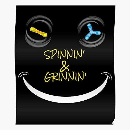 Spinner Ad ADHD Toy Add Autism Spinning Fidget The Best and Style Home Decor Wall Art Print Poster with only Size 16x24 inch