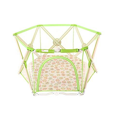 YHDD Barrière de bébé Pliable intérieur Jouet sécurité Protection bébé Jouer clôture bébé barrière bébé Cage (Couleur : Vert)