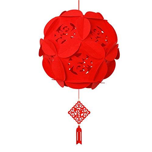 SISHUINIANHUA Hängende Laterne rotes Fu Buchstaben Tuch wiederverwendbares chinesisches Ochsen Jahr China Spring Festival Home Geburtstag Dekor Beliebt,3