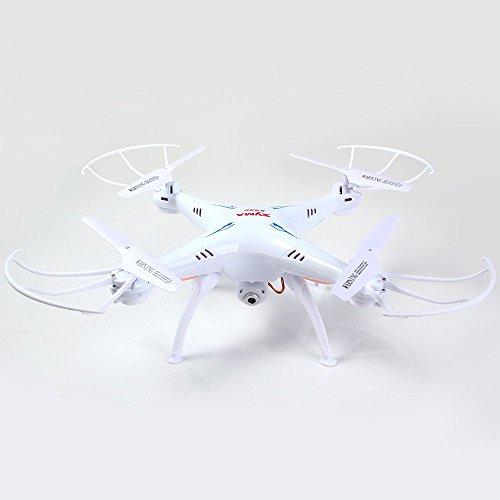 Syma X5SC Nuova Versione Syma X5SC-1 Falcon Drone videocamera HD Vibrazione di 4 Canali 2.4G Telecomando Quadcopter 6 Asse 3D Fly UFO 360 Gradi Eversione (BiancoWhite)