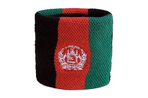 Flaggenfritze Schweißband Motiv Fahne/Flagge Afghanistan + gratis Aufkleber