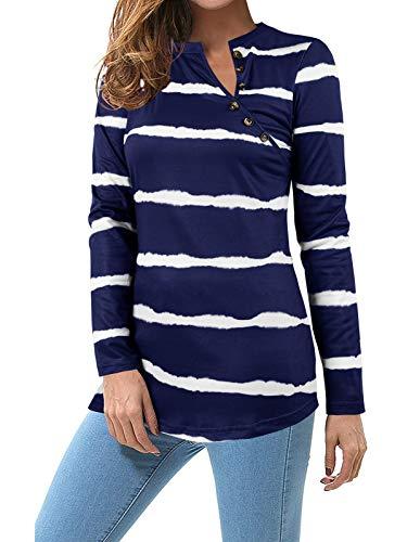 (65% OFF) Women's Striped Long Sleeve T Shirt $7.70 Deal