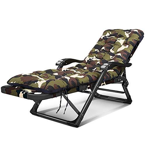 WYJW Camouflage Gravity Lounge stoel met uitneembare katoenen pad, opklapbare ligstoel met massage armleuningen voor Patio, zwembad (kleur : stijl-2, maat: Set van 2)