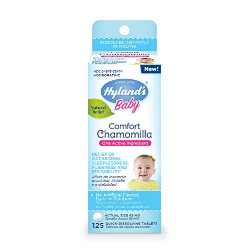 Hyland's Baby Comfort Chamomilla, Natural Relief of Occasional Sleeplessness, Irritability, and Fussiness, 125 Count