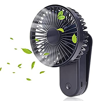Portable Mini Clip on Fan,2400mAh Rechargeable USB Battery Operated Stroller Fan with Magnetic Royal Blue