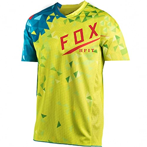 Cycling Enduro MTB Shirt Downhill T-Shirt Camiseta Motocross MX Mountain Bike Clothing 21 Fox Flexair Short Sleeve Jersey-S