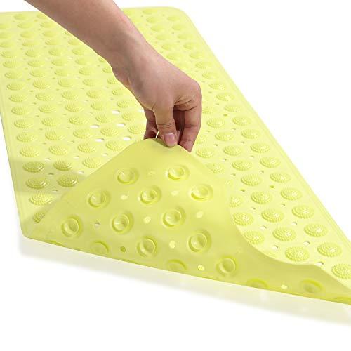 Genenic Bathtub Mat 40 X 16 Inch, Bath Mat for Tub with Non Slip Suction Cups & Massage Point (Peak Green)