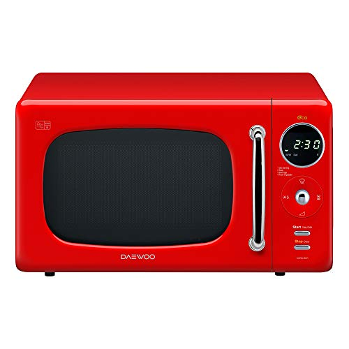 Daewoo KOR9LBKRR Touch Control Microwave with Zero Standby ECO Function, 800 W, 20 Litre, Red