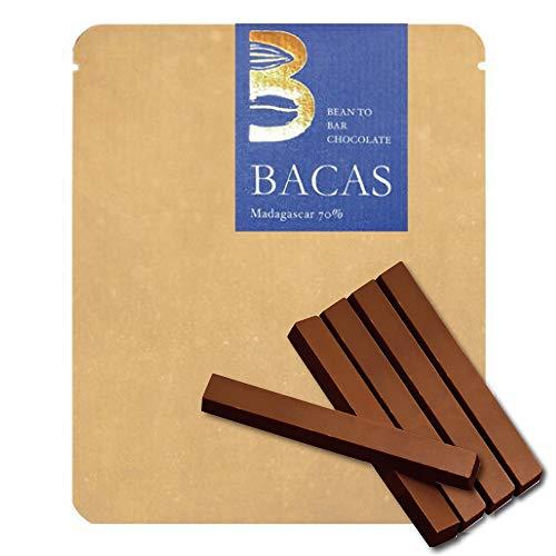 BACAS (バカス) ビーントゥバー チョコレート ハイカカオ マダガスカル70% スティック5本入り カシスとブラックベリー 青リンゴのような風味