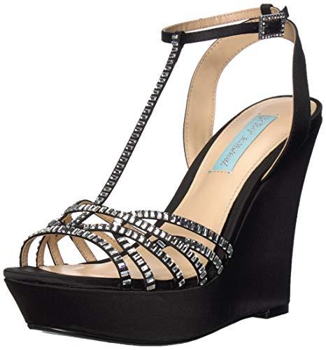 Betsey Johnson Damen SB-Ember Keilabsatz-Sandale, schwarz, 36.5 EU