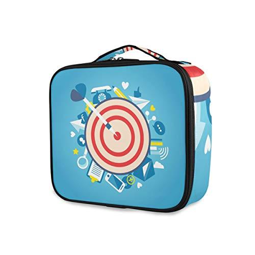 LUPINZ Bolsa de cosméticos con patrón de diana para maquillaje bolsa de viaje organizadora bolsa de aseo para niña