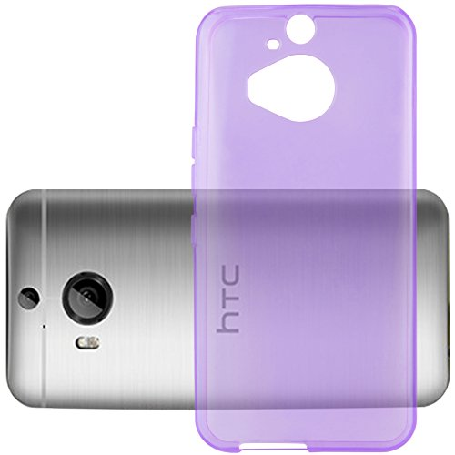 Preisvergleich Produktbild Cadorabo Hülle für HTC ONE M9 Plus (3.Gen.) - Hülle in TRANSPARENT LILA Handyhülle aus TPU Silikon im Ultra Slim 'AIR' Design - Silikonhülle Schutzhülle Soft Back Cover Case Bumper
