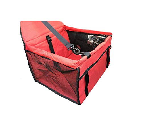 Hund Autositzbezug, Dog Booster Autositz für kleine Hunde, Katzen mit Sicherheitsgurt und Aufbewahrungstasche für Hunde und Katzen, leicht zusammenklappbar, kratzfest rutschfest