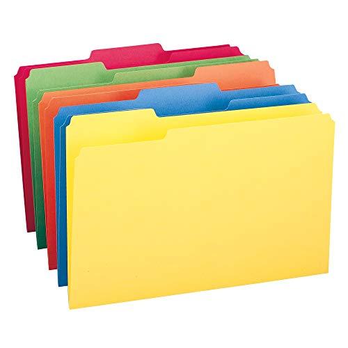 Smead Colored File Folder, 1/3-Cut Tab, Legal Size, Assorted Colors, 100 per Box (16943)