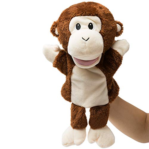 HollyHOME Hand Puppets Monkey Animal Puppets Zoo Plush Animal Toys 13 Inches