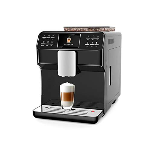 Hebry Kaffeemaschine, Profi-Kaffeemaschine Vollautomatische Fancy Coffee Machine Home Espressomaschine HandelsbüRo, Black